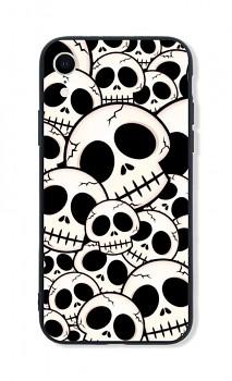 Zadní pevný kryt LUXURY na iPhone XR Skulls