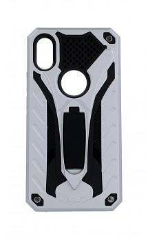 Ultra odolný zadní kryt na iPhone XS Phantom stříbrný