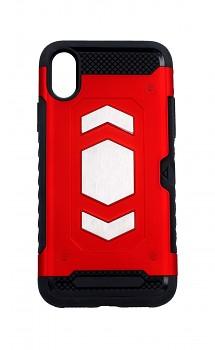 Ultra odolný zadní kryt Forcell na iPhone XS Magnet červený