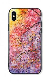 Zadní pevný kryt LUXURY na iPhone XS Abstract Tree