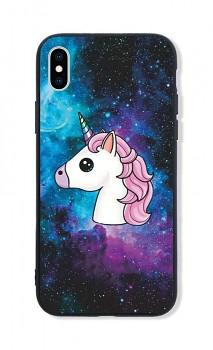 Zadní pevný kryt LUXURY na iPhone XS Space Unicorn