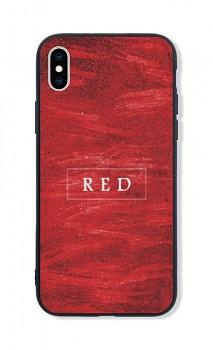 Zadní pevný kryt LUXURY na iPhone XS Red
