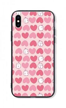 Zadní pevný kryt LUXURY na iPhone XS Sweet Bunny