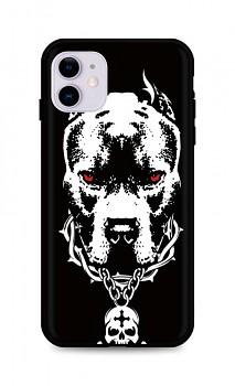 Zadní silikonový kryt DARK na iPhone 11 Fighting Dog