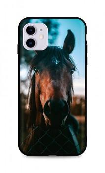 Zadní silikonový kryt DARK na iPhone 11 Horse