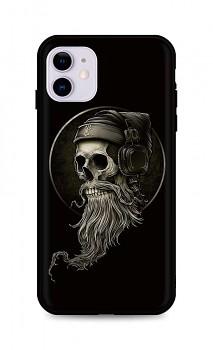 Zadní silikonový kryt DARK na iPhone 11 Music Skeleton