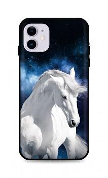 Zadní silikonový kryt DARK na iPhone 11 White Horse