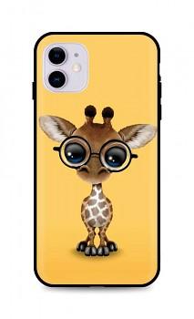 Zadní silikonový kryt DARK na iPhone 11 Cute Giraffe