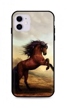 Zadní silikonový kryt DARK na iPhone 11 Brown Horse