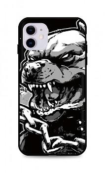 Zadní silikonový kryt DARK na iPhone 11 Aggressive Pitbull