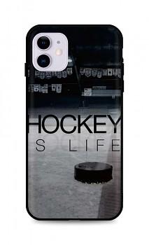 Zadní silikonový kryt DARK na iPhone 11 Hockey Is Life