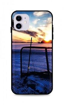 Zadní silikonový kryt DARK na iPhone 11 Hockey Sunset
