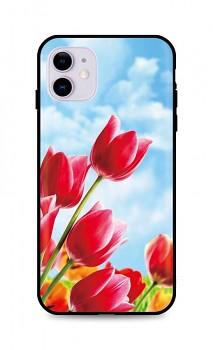 Zadní silikonový kryt DARK na iPhone 11 Tulips