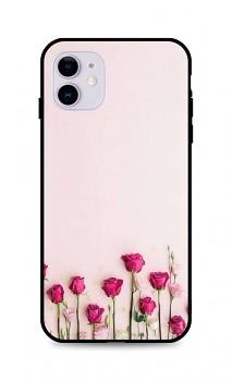 Zadní silikonový kryt DARK na iPhone 11 Roses