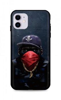 Zadní silikonový kryt DARK na iPhone 11 Monkey Gangster