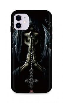 Zadní silikonový kryt DARK na iPhone 11 Grim Reaper