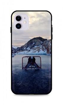 Zadní silikonový kryt DARK na iPhone 11 Hockey Goalie