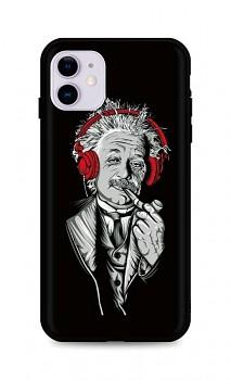 Zadní silikonový kryt DARK na iPhone 11 Albert Einstein