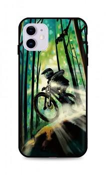 Zadní silikonový kryt DARK na iPhone 11 Mountain Bike