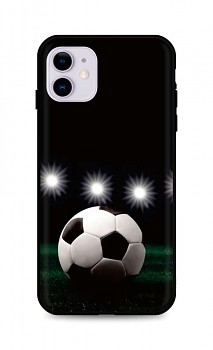 Zadní silikonový kryt DARK na iPhone 11 Football