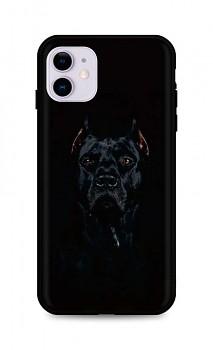 Zadní silikonový kryt DARK na iPhone 11 Dark Pitbull