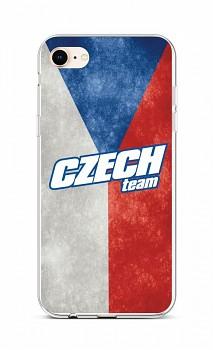 Zadní silikonový kryt na iPhone SE 2020 Czech Team