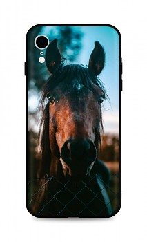 Zadní silikonový kryt DARK na iPhone XR Horse