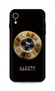 Zadní silikonový kryt DARK na iPhone XR Plata O Plomo