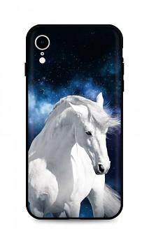Zadní silikonový kryt DARK na iPhone XR White Horse