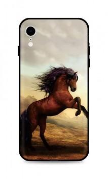 Zadní silikonový kryt DARK na iPhone XR Brown Horse