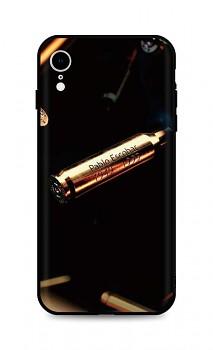 Zadní silikonový kryt DARK na iPhone XR Pablo Escobar Bullet