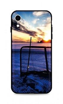Zadní silikonový kryt DARK na iPhone XR Hockey Sunset