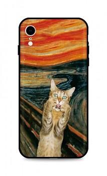Zadní silikonový kryt DARK na iPhone XR Scared Cat