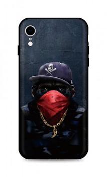 Zadní silikonový kryt DARK na iPhone XR Monkey Gangster