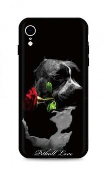 Zadní silikonový kryt DARK na iPhone XR Pitbull Love