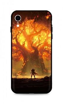 Zadní silikonový kryt DARK na iPhone XR Warcraft