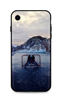 Zadní silikonový kryt DARK na iPhone XR Hockey Goalie