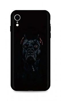 Zadní silikonový kryt DARK na iPhone XR Dark Pitbull