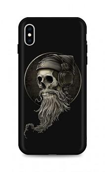Zadní silikonový kryt DARK na iPhone XS Music Skeleton