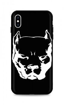 Zadní silikonový kryt DARK na iPhone XS Pitbull