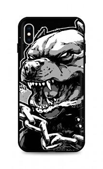 Zadní silikonový kryt DARK na iPhone XS Aggressive Pitbull