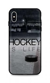 Zadní silikonový kryt DARK na iPhone XS Hockey Is Life