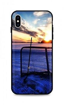 Zadní silikonový kryt DARK na iPhone XS Hockey Sunset