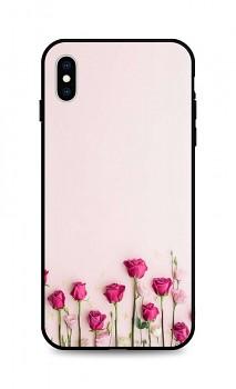 Zadní silikonový kryt DARK na iPhone XS Roses