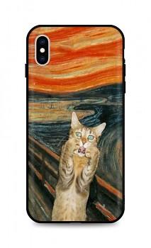 Zadní silikonový kryt DARK na iPhone XS Scared Cat
