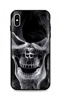 Zadní silikonový kryt DARK na iPhone XS Deadly Smoke