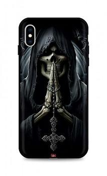 Zadní silikonový kryt DARK na iPhone XS Grim Reaper