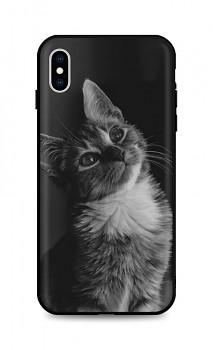Zadní silikonový kryt DARK na iPhone XS Cute Cat