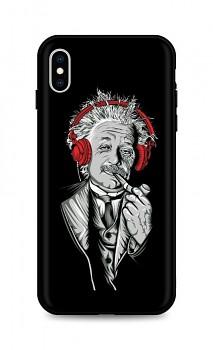 Zadní silikonový kryt DARK na iPhone XS Albert Einstein