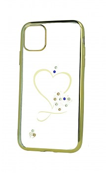 Zadní silikonový kryt na iPhone 11 Sweet Heart zlatý